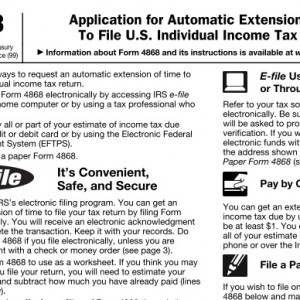 Automatic tax extension for those filing US tax returns