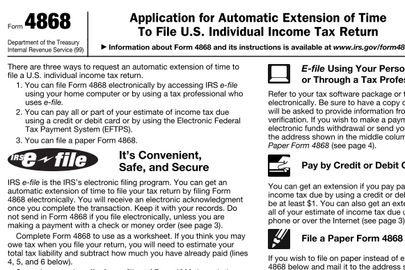 Automatic Tax Extension For Those Filing Us Tax Returns The