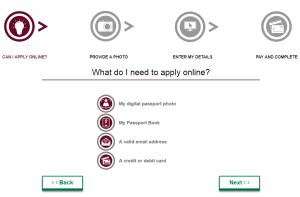 Apply online for Irish passport card