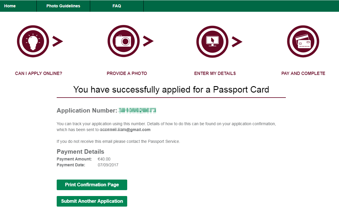 Have you applied for your irish passport card i have the irish passport application falaconquin